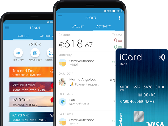 Features of icard digital wallet