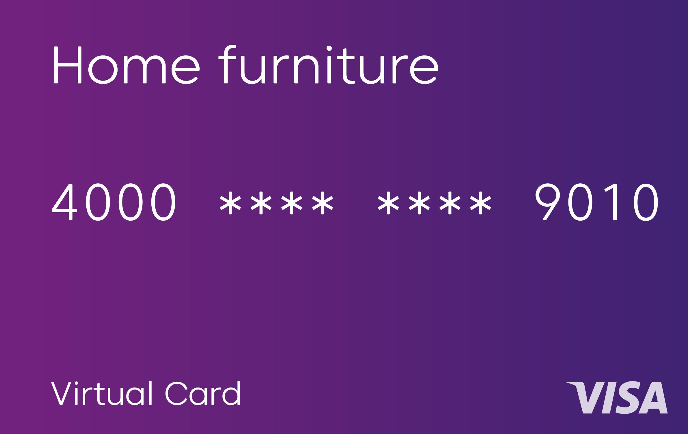 Purple virtual card